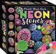Paint Your Own Neon Stones Includes Paint and Stones Great Stone Painting Kit